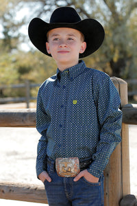 Boys Cinch Long Sleeve Button Shirt