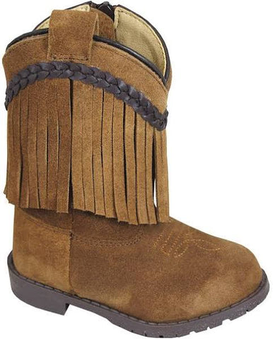 Smoky Mountain Toddler Zip Up Suede Boots with Fringe