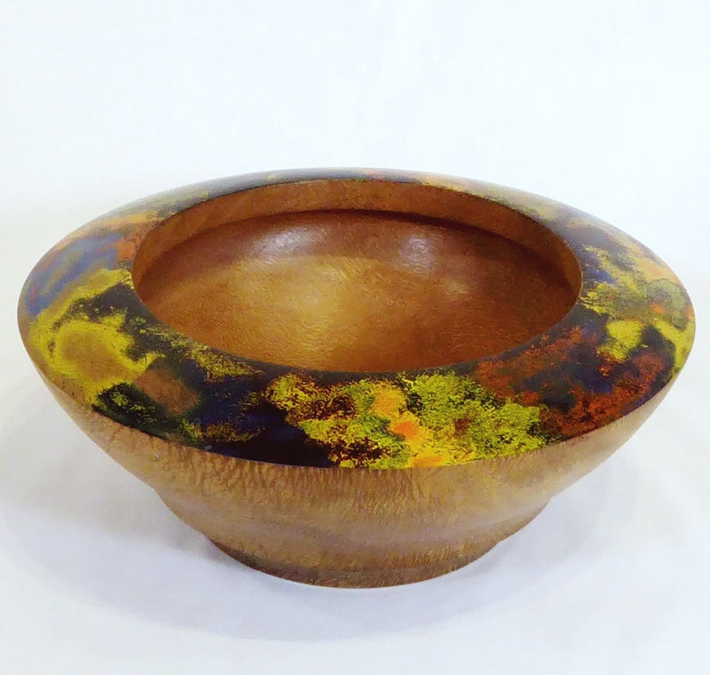 """Opal Series"" bowl, Silky Oak Burl"
