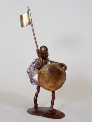 Steam Punk Warrior copper sculpture