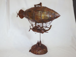 Steam Punk Blimp - copper sculpture