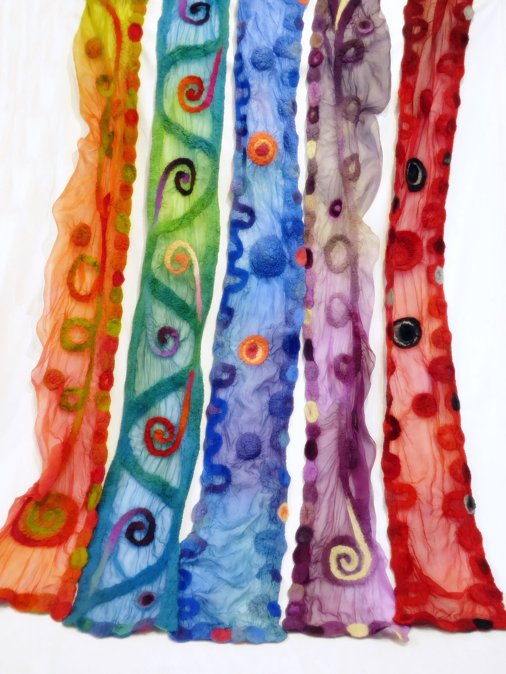 Felted Silk Scarf