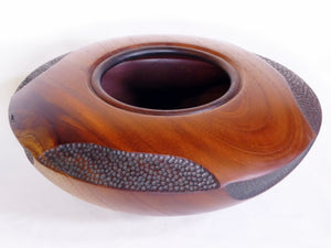 Bowl Red Cedar with Black Stipple feature