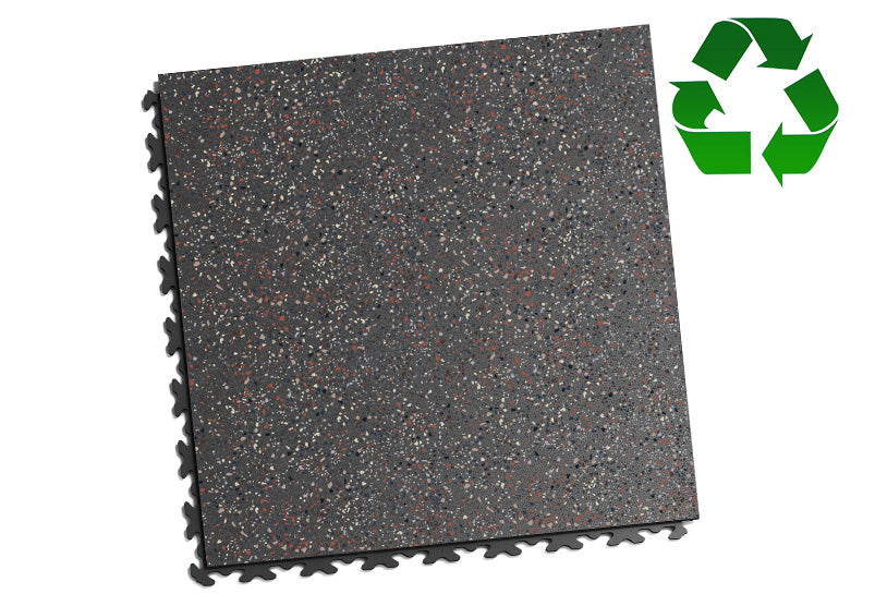 "DALLE PVC ""GRANITE"" ÉCO-RECYCLÉ GRIS - JOINTS INVISIBLES"