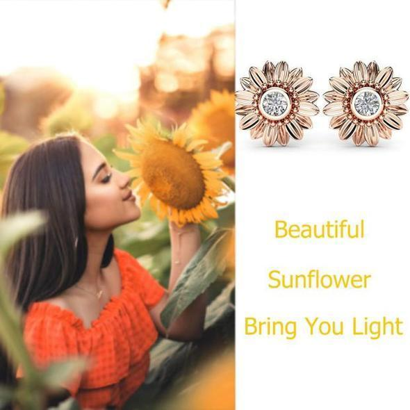 🌻You Are My Sunshine Sunflower Crystal Stud Earrings(BUY 2 FREE SHIPPING)
