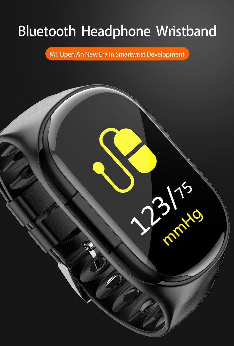 【HOT!】2 in 1 Smart Watch With Bluetooth Earphones-Free Shipping