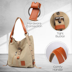 Vintage Two Way Canvas Totes Bag
