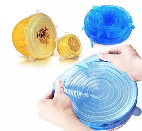 Stretchable Silicone Lid-6pcs/set