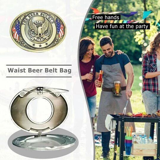 Creative Belt Buckle Beer Rack