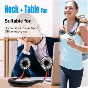 (Last Promotion 50% OFF)2020 New Rechargeable Portable Neck-strap Fan-Buy 2 Free Shipping