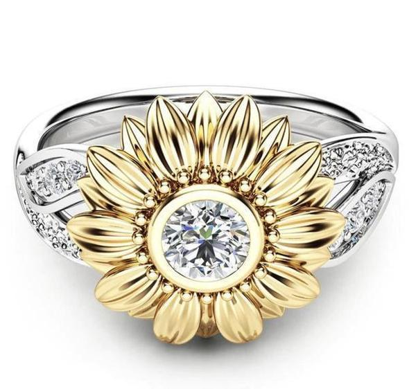 🌻You Are My Sunshine Sunflower Exquisite Crystal Ring(BUY 2 FREE SHIPPING)