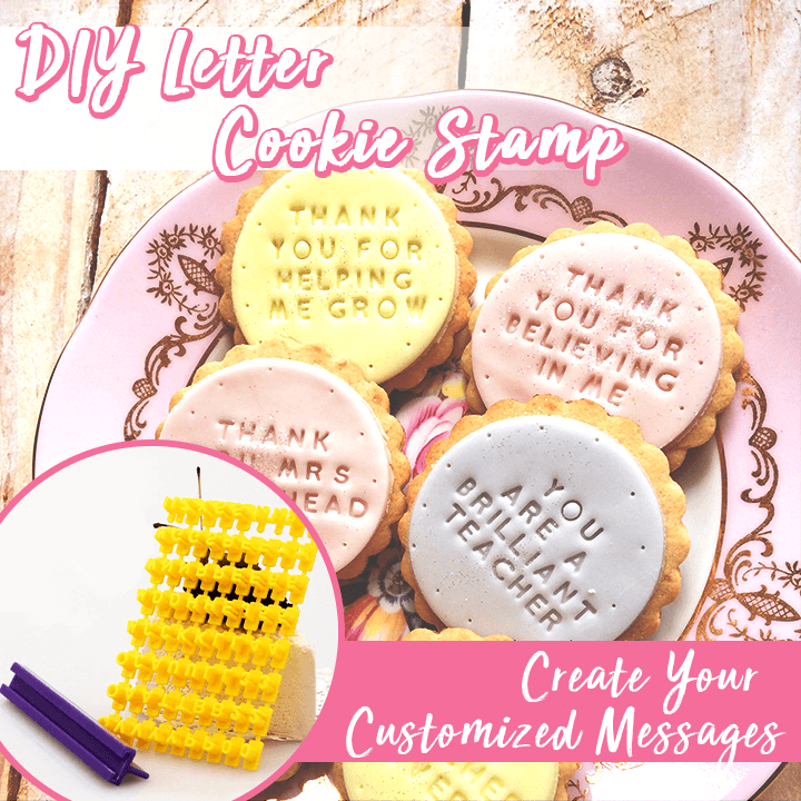 Christmas home baking-DIY Letter Cookie Stamp