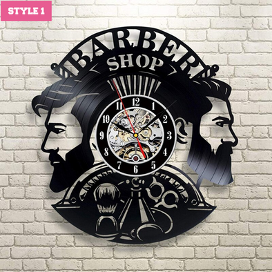 Barber Wall Clock- LAST DAY BLACK PRICE