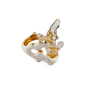 Ring Crystal Shard in White