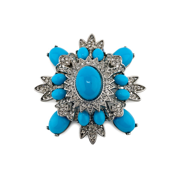 Brooch Turquoise Chic