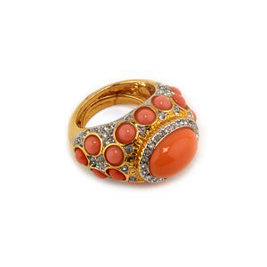 Coral Antoinette Ring