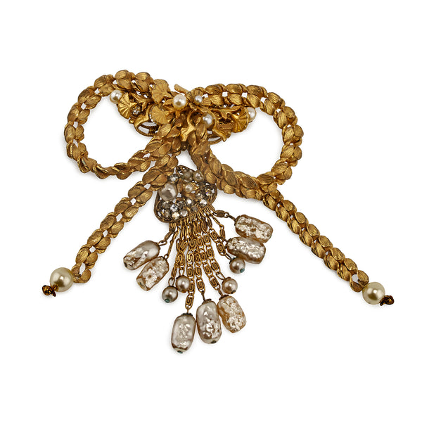Vintage Miriam Haskell Bow Brooch