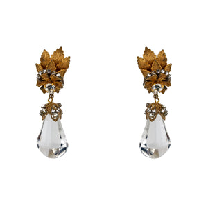 Vintage Miriam Haskell Crystal Earrings