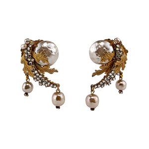 Miriam Haskell Lovely Vintage Earrings