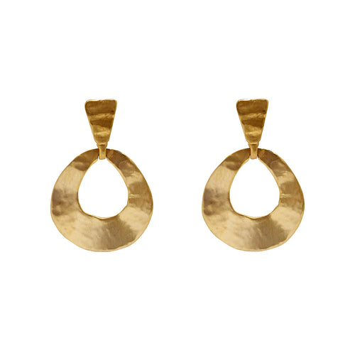Earring Golden Drop Hoops