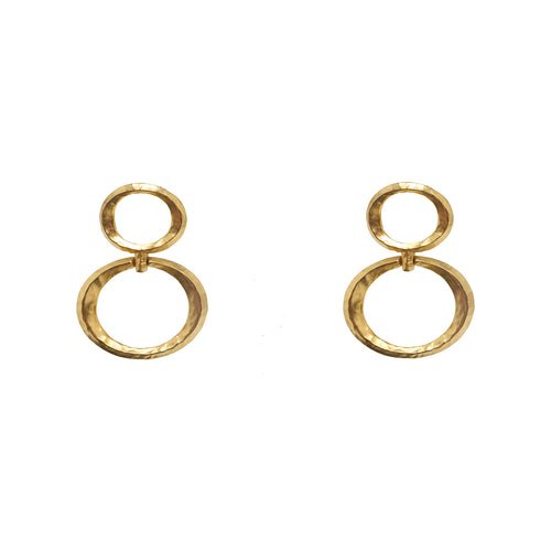 Earrings  Gold Double Oval Hoops