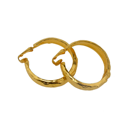 Earrings Golden Clip Hoop