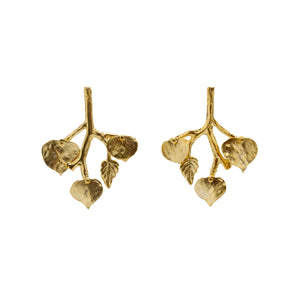 Earrings Golden Foliage