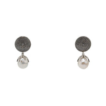 Load image into Gallery viewer, Earrings Pearl Drops and Crystal Disc