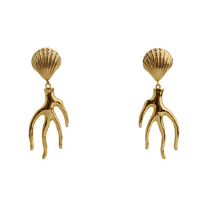 Earrings Golden Corals