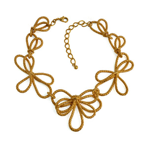 Necklace Gold Ribbon