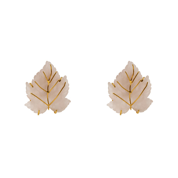 Earrings  Opaque Leaves