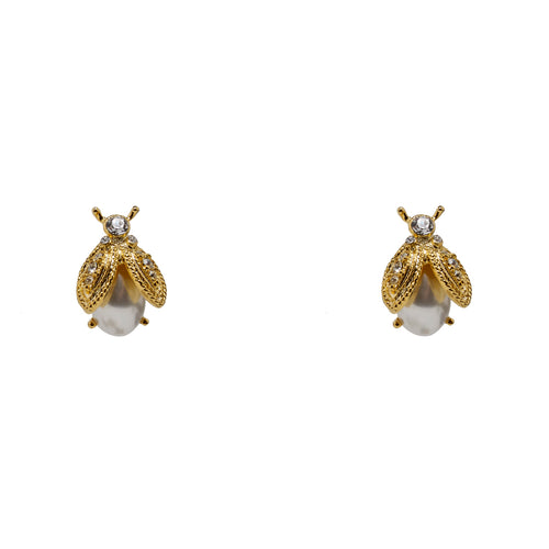 Earrings Pearl Bugs