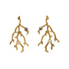 Earrings Gold Branches