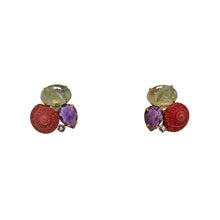 Load image into Gallery viewer, Semi-Precious Earrings shell and stones