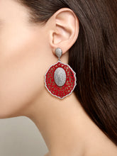 Load image into Gallery viewer, Earrings Coral or Turquoise Sahara