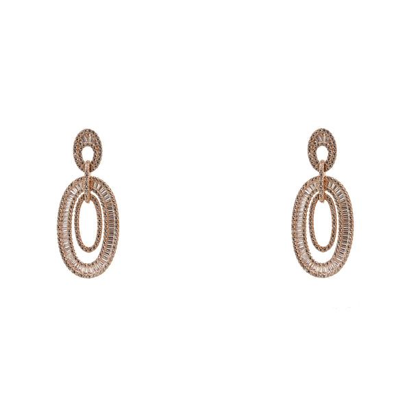 Earrings Baguette Duet