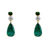Semi-Precious Malachite and Pearl Earrings