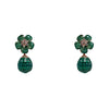 Earrings Emerald Crystals