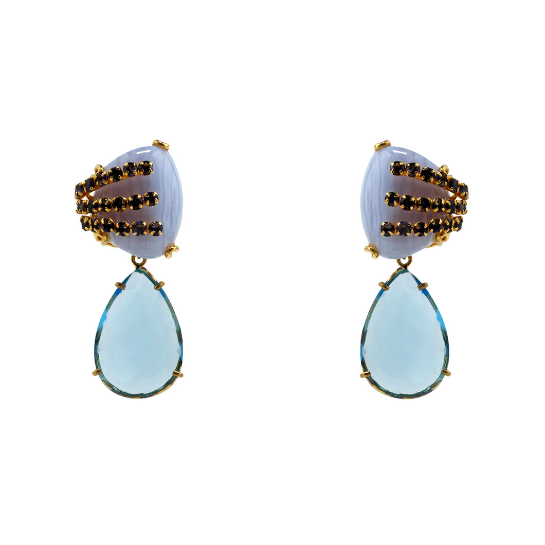 Semi-Precious Earrings Blues