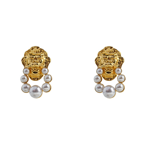 Earrings Just Pearly Lions