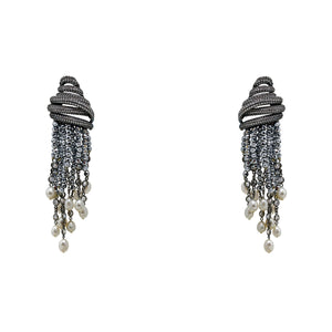 Earrings  Beehive Tassels