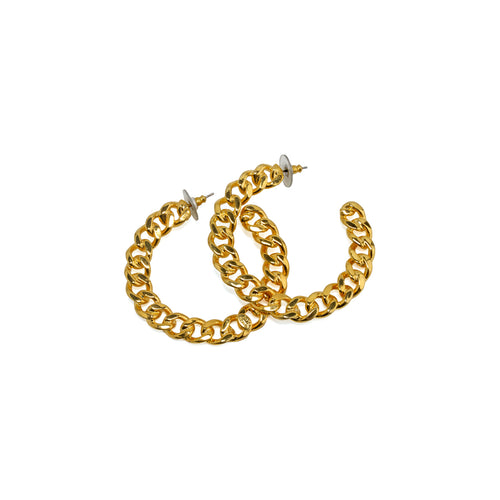 Earrings Golden Chain Hoops