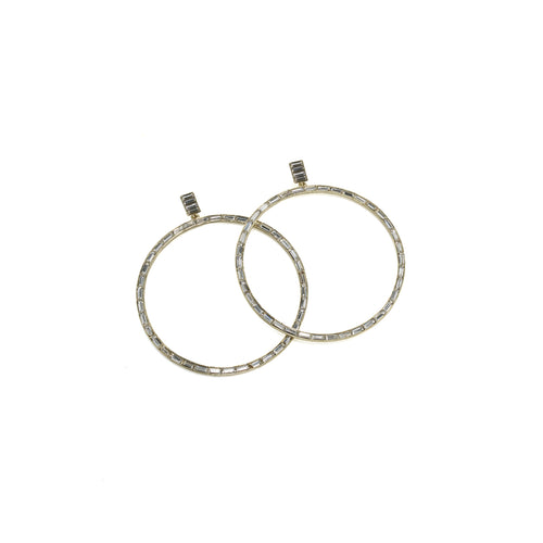 Earrings Hannah Baguette Hoops