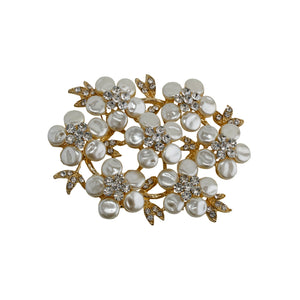 Brooch Pearly floral