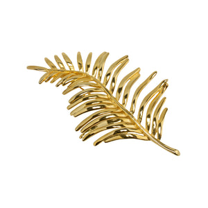 Brooch Gold Leaf