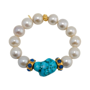 Semi-Precious Bracelet Pearls and Turquoise