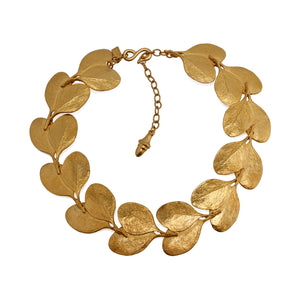 Necklace Golden Leaves