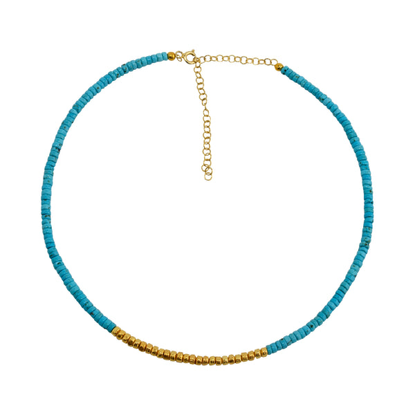 Necklace Turquoise and Gold