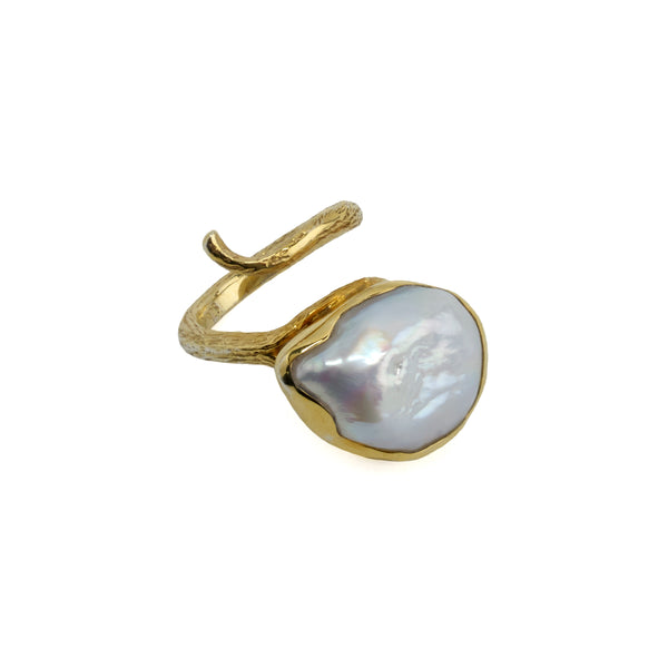 Ring Pearl Baroque Twist