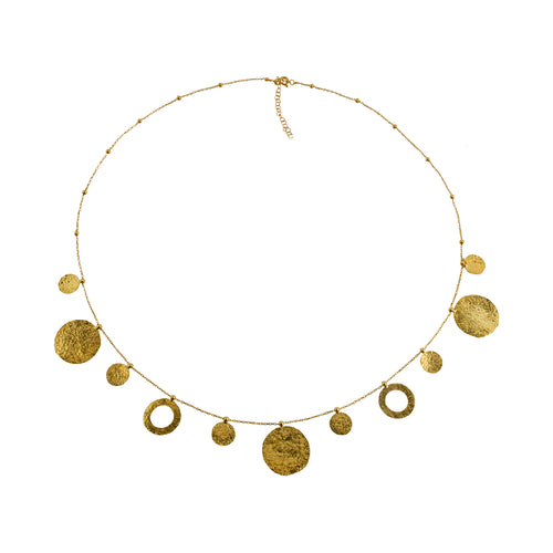 Necklace Golden Discs